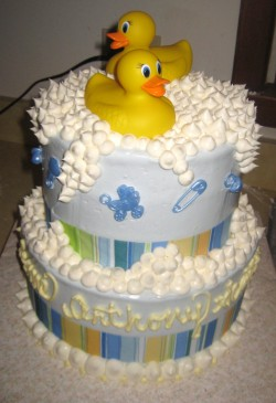 Baby cake with ducks