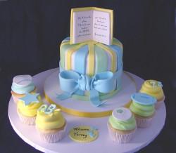 Boys baby shower cake