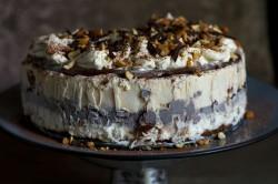 Peanut ice cream cake