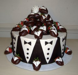 Strawberry grooms cake