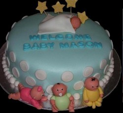 Sleaping baby cake