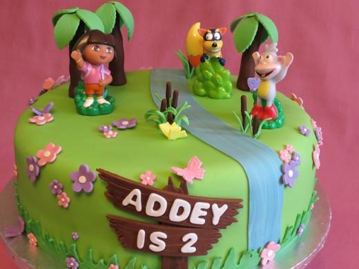 Dora cake for Addey