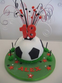 Football cake for Alex