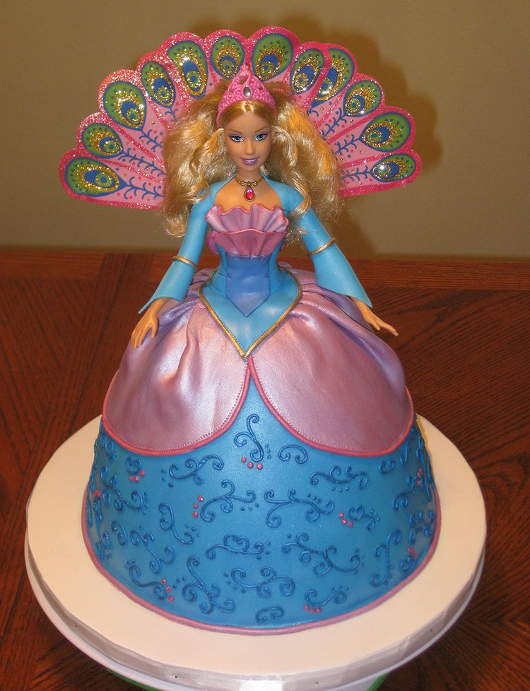 Princess Birthday Cakes Coloring Pages