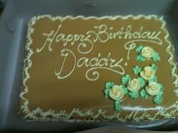 Birthday caramel cake