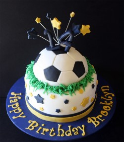 Birthday football cake