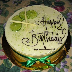 Birthday key lime cake