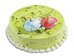 Birthday pistachio cake