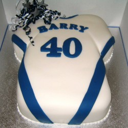 Blue football shirt cake