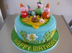 Peppa pig cake for Bradley
