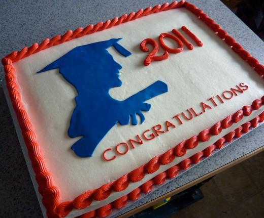 Cake for graduation