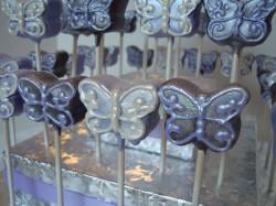 Cake pops butterfly