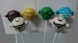 Cake pops for lego birthday
