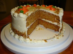 Cake with carrot