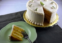 Cake with key lime