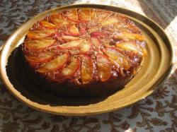 Cake with rhubarb