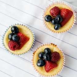Cheesecake cupcakes with berries