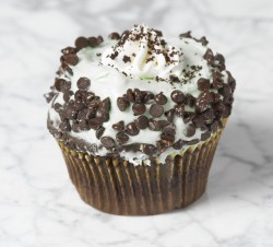 Chocolate crumbs cupcake