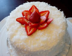 Coconut cake with strawberry