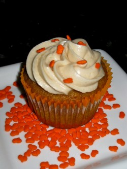 Cupcake with pumpkin
