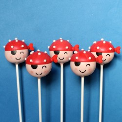 Cute pirate cake pops