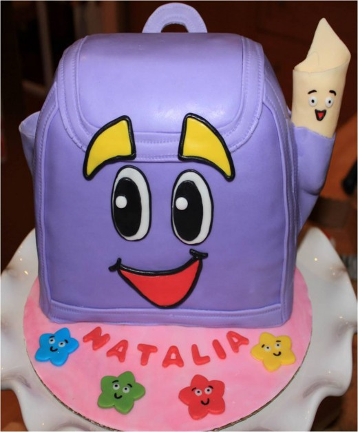 Dora's backpack cake