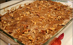 Dump cake with nuts