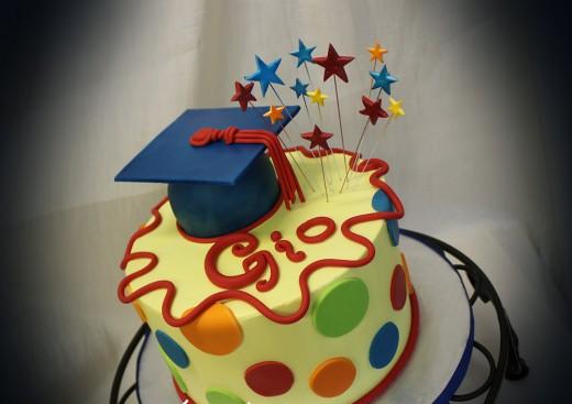 Graduation cake for Gio