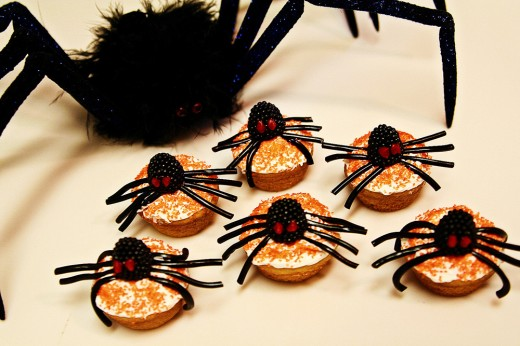 Halloween cupcake with sipder
