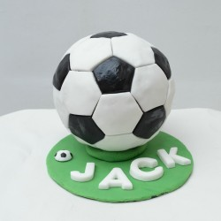 Football birthday cake for Jack