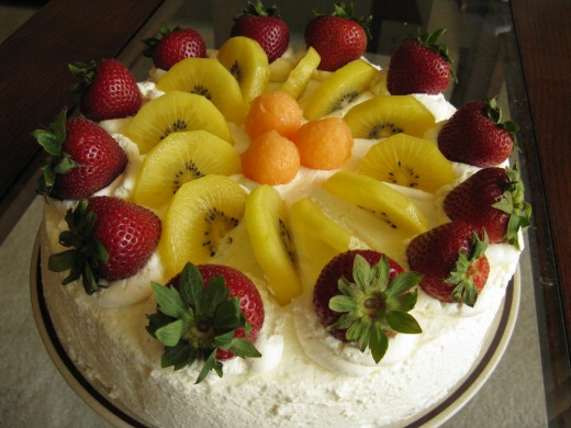 Kiwi fruit's cake