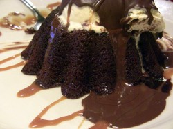 Lava cake with chocolate