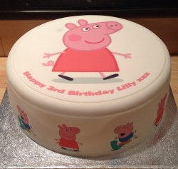Peppa pig cake for Lilly
