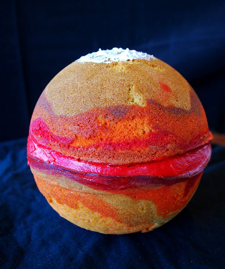 Mars planet cake