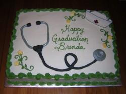 Medicine graduation cake