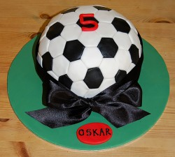 Football cake for Oskar