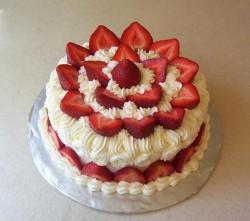 Perfect strawberry cake
