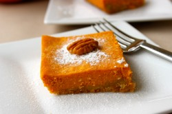 Piece of pumpkin cake