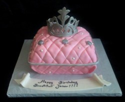 Pink Princess pillow Cake