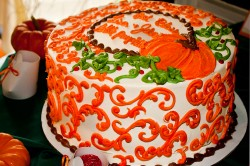 Pumpkin cake decorations