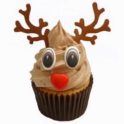 Rudolf cupcake