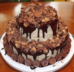 Tasty peanut butter cake