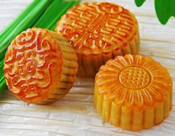 Three Moon cakes
