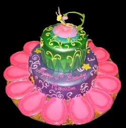 Tinkerbell's paradise cake