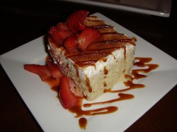 Tres leches strawberry cake
