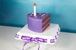 Piece of violet cake