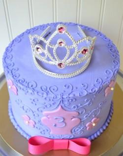 Violet princess cake