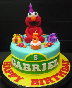 Elmo cake for Gabriel birthday