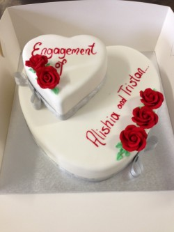 2 tier engagement cake