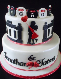 Amazing 2 tier engagement cake